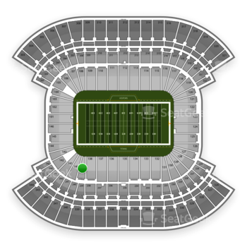 Tennessee Titans at Nissan Stadium Section 139 View