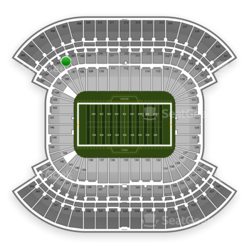 Tennessee Titans at Nissan Stadium Section 206 View