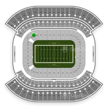 Tennessee Titans at Nissan Stadium Section 107 View