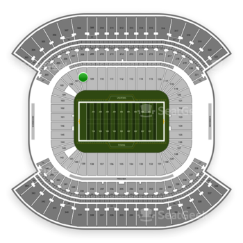 Tennessee Titans at Nissan Stadium Section 108 View