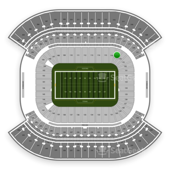 Tennessee Titans at Nissan Stadium Section 117 View