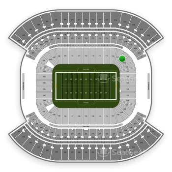 Tennessee Titans at Nissan Stadium Section 118 View