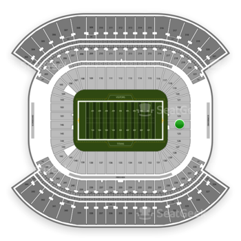 Tennessee Titans at Nissan Stadium Section 124 View