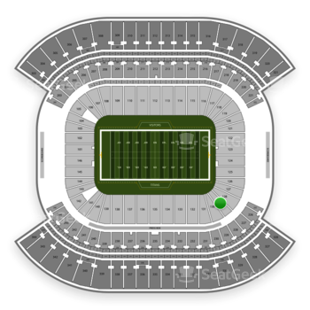 Tennessee Titans at Nissan Stadium Section 129 View