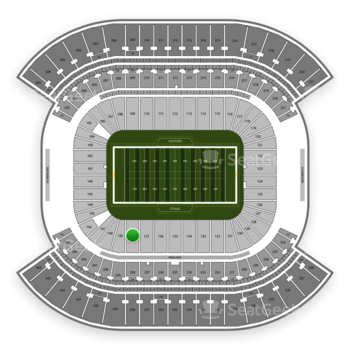 Tennessee Titans at Nissan Stadium Section 138 View