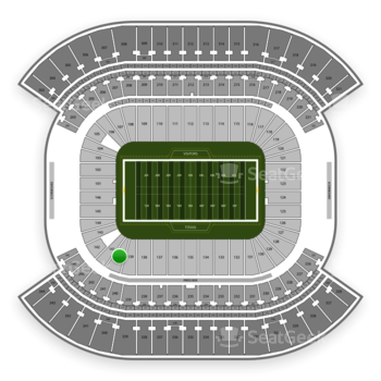 Tennessee Titans at Nissan Stadium Section 140 View