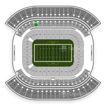 Tennessee Titans at Nissan Stadium Section 208 View