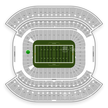 Tennessee Titans at Nissan Stadium Section 101 View
