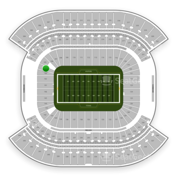 Tennessee Titans at Nissan Stadium Section 104 View