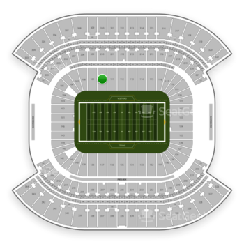 Tennessee Titans at Nissan Stadium Section 110 View