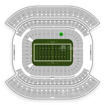 Tennessee Titans at Nissan Stadium Section 114 View