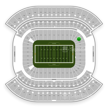 Tennessee Titans at Nissan Stadium Section 119 View