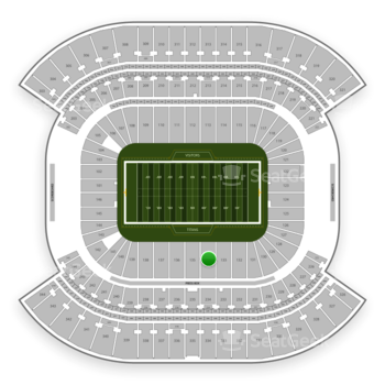 Tennessee Titans at Nissan Stadium Section 134 View