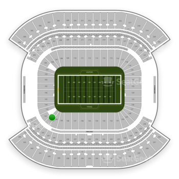 Tennessee Titans at Nissan Stadium Section 141 View