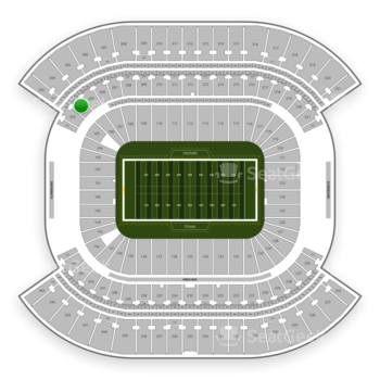 Tennessee Titans at Nissan Stadium Section 204 View