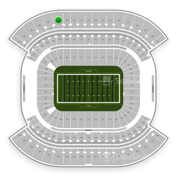 Tennessee Titans at Nissan Stadium Section 308 View