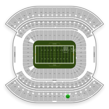 Tennessee Titans at Nissan Stadium Section 332 View