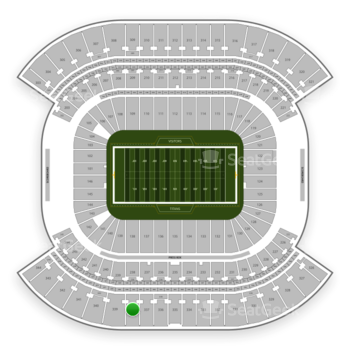 Tennessee Titans at Nissan Stadium Section 338 View