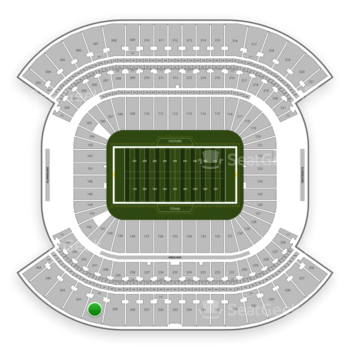 Tennessee Titans at Nissan Stadium Section 340 View