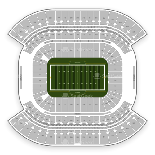 Tennessee Titans Seating Chart