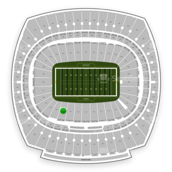 Kansas City Chiefs at Arrowhead Stadium Section 122 View