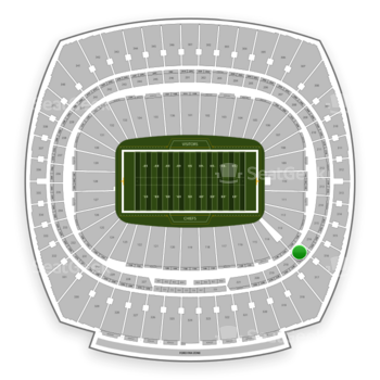 Kansas City Chiefs at Arrowhead Stadium Section 217 View