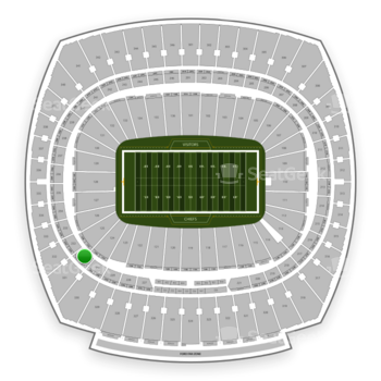 Kansas City Chiefs at Arrowhead Stadium Section 231 View