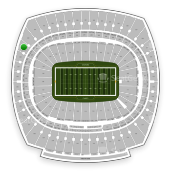 Kansas City Chiefs at Arrowhead Stadium Section 339 View