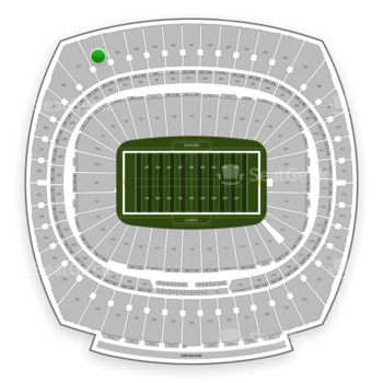 Kansas City Chiefs at Arrowhead Stadium Section 342 View