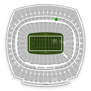 Kansas City Chiefs at Arrowhead Stadium Section 204 View