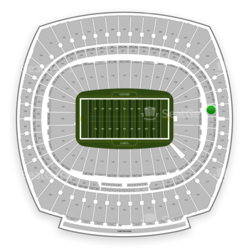 Kansas City Chiefs at Arrowhead Stadium Section 212 View