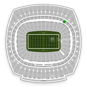Kansas City Chiefs at Arrowhead Stadium Section 207 View