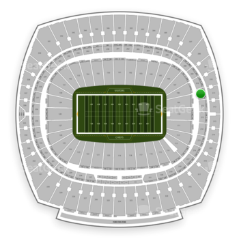 Kansas City Chiefs at Arrowhead Stadium Section 211 View