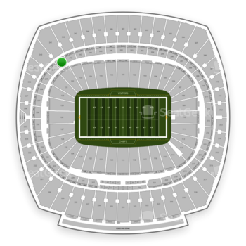 Kansas City Chiefs at Arrowhead Stadium Section 241 View