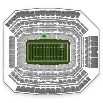 Indianapolis Colts at Lucas Oil Stadium Section 112 View