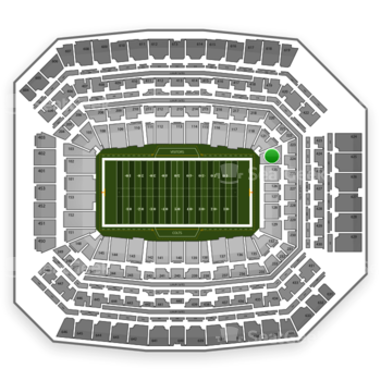 Indianapolis Colts at Lucas Oil Stadium Section 124 View
