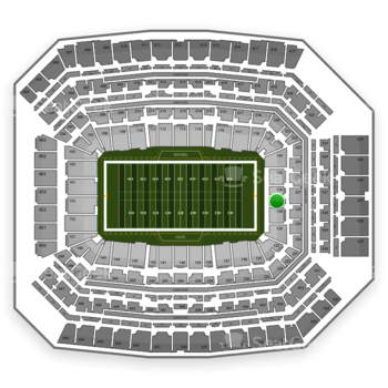 Indianapolis Colts at Lucas Oil Stadium Section 127 View