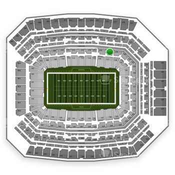 Indianapolis Colts at Lucas Oil Stadium Section 217 View