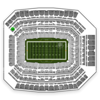 Indianapolis Colts at Lucas Oil Stadium Section 404 View