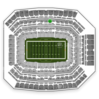 Indianapolis Colts at Lucas Oil Stadium Section 414 View