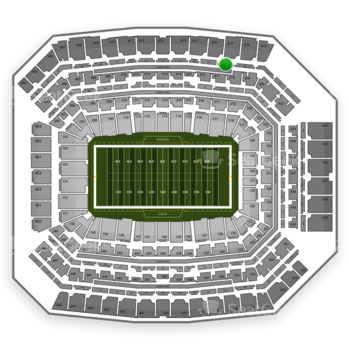 Indianapolis Colts at Lucas Oil Stadium Section 517 View