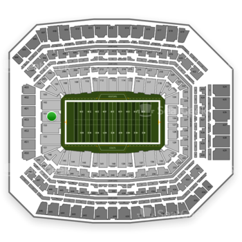 Indianapolis Colts at Lucas Oil Stadium Section 101 View