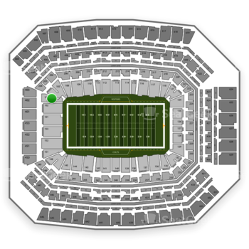 Indianapolis Colts at Lucas Oil Stadium Section 103 View