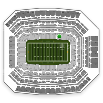 Indianapolis Colts at Lucas Oil Stadium Section 116 View