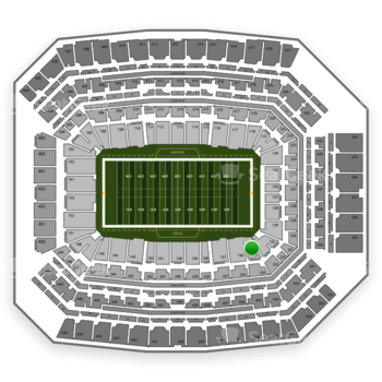 Indianapolis Colts at Lucas Oil Stadium Section 135 View