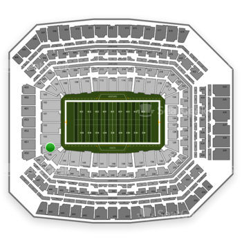 Indianapolis Colts at Lucas Oil Stadium Section 151 View