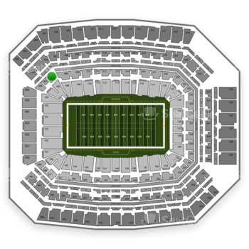 Indianapolis Colts at Lucas Oil Stadium Section 206 View