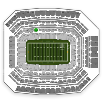 Indianapolis Colts at Lucas Oil Stadium Section 210 View