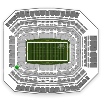 Indianapolis Colts at Lucas Oil Stadium Section 249 View