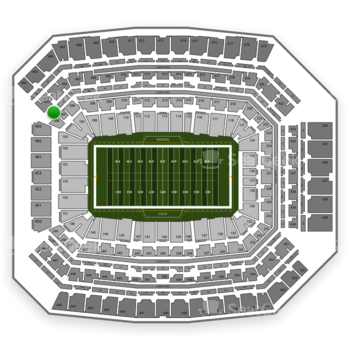 Indianapolis Colts at Lucas Oil Stadium Section 304 View